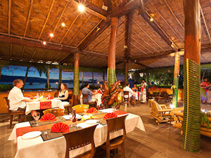 open air restaurant at Beqa lagoon resort